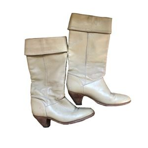 Vintage Frye leather cuffed Boots 7